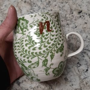 NWT Anthropologie Intial Coffee Mug